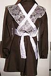 Школьная форма  на девочку,2 фартука,коричневая ., фото 4
