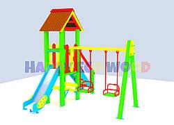 """Детская площадка, игровой комплекс """"Задорина"""" (HappyEcoWood, Украина, GC002)"""