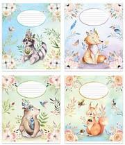 Набор тетрадей 10 штук Полиграфист Животные A5 в клетку 12 листов (12К 406)