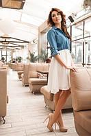 Платье джинс+ шифон
