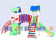 """Детская площадка, игровой комплекс """"Изюмина"""" (HappyEcoWood, Украина, GC003)"""