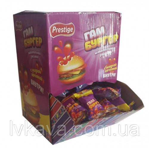 Жевательная резинка Hamburger Gum  Prestige , картон, 4,5  гр х 200 шт