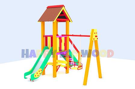 """Детская площадка, игровой комплекс """"Светлячок"""" (HappyEcoWood, Украина, GC004), фото 2"""