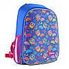 """Рюкзак шкільний каркасний 1Вересня H-27 """"Owl party"""" блакитний (557710)"""
