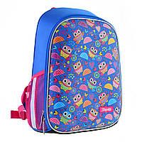 """Рюкзак шкільний каркасний 1Вересня H-27 """"Owl party"""" блакитний (557710), фото 1"""