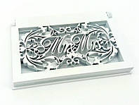 Шкатулка плоская для обручальных колец «Mr & Mrs»