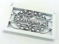 Шкатулка плоская для обручальных колец ««Wedding»»