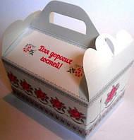 Коробка для каравая (белая с розами)