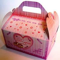Коробка для каравая (розовая)