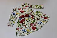 Повседневно - нарядное платье на девочку с рукавами в летний цветочек