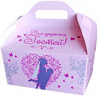 Коробка для каравая (розовая, глиттер)