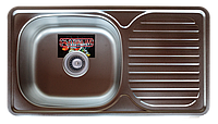 Мойка кухонная Platinum 7642 Satin 0,8мм