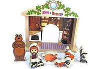 Деревянная игрушка Bambi GT 5948 Игра-логика Маша и Медведь