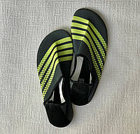 Неопреновая обувь аквашузы Skin Shoes серые с зелеными полосками