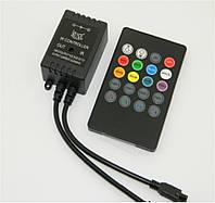 Контроллер для светодиодной ленты RGB 6А с функцией светомузыки, Smart RIR-3-RGB-BMC, ИК пульт 24 кнопки/03