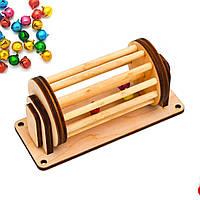 Заготовка Барабанчик с колокольчиками для бизиборда ЗВУК Дерев'яні дзвіночки для бізіборда бубенчики