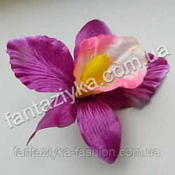 Атласный цветок ириса 10см, фиолетовый