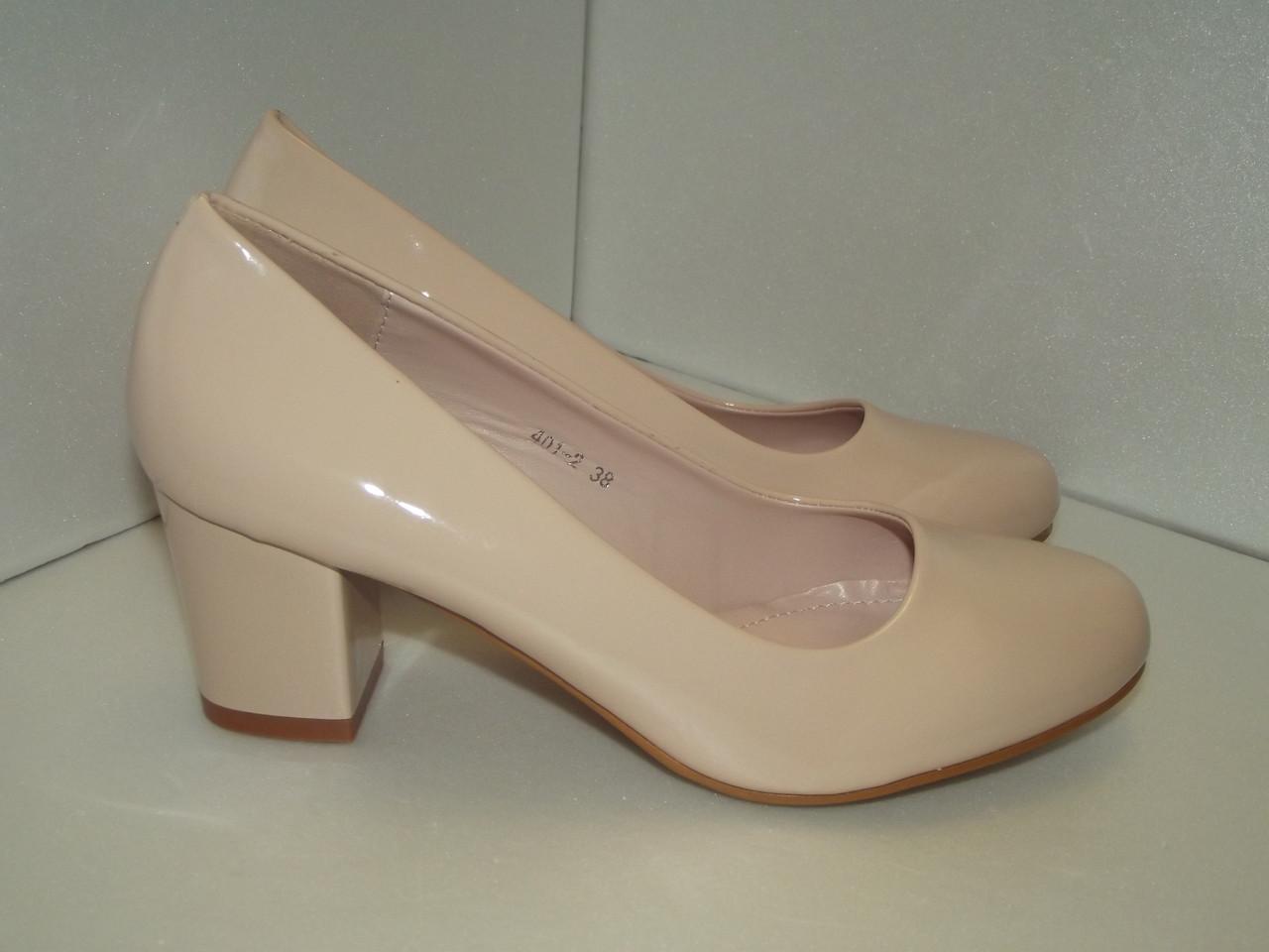 Женские лаковые туфли, р.37, 39