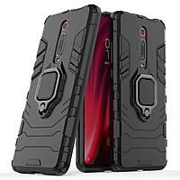 Чехол Iron Ring для Xiaomi Mi 9T / Redmi K20 бронированный бампер Броня Black