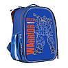 Рюкзак шкільний каркасний 1 Вересня H-25 Robot, 35*26*16 см Синій (555788)