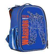 Рюкзак шкільний каркасний 1 Вересня H-25 Robot, 35*26*16 см Синій (555788), фото 1