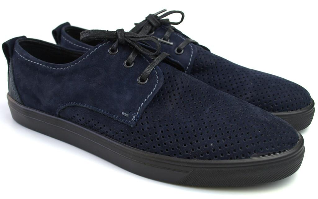 Кроссовки слипоны в сеточку летние мужская обувь Rosso Avangard Slip-On Blu NUB Perf синие
