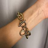 "Браслет с крупными звеньями ""Two Rings"", 2 цвета, фото 3"