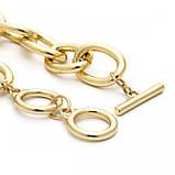 "Браслет с крупными звеньями ""Two Rings"", 2 цвета, фото 7"