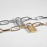 """Браслет с крупными звеньями и замком, """"Metal Lock"""", 2 цвета, фото 4"""