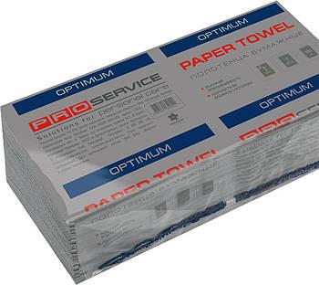 Полотенца бумажные однослойные Proserviсe Optimum, V-сложение, 160 шт., серые