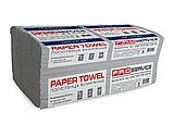 Полотенца бумажные однослойные Proserviсe Optimum, V-сложение, 160 шт., серые, фото 2