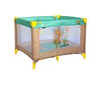 Детский игровой манеж PLAY BEIGE&GREEN HONEY BEAR для детей 0-3 года ТМ Lorelli/Bertoni Беж.-зел. 10080051947