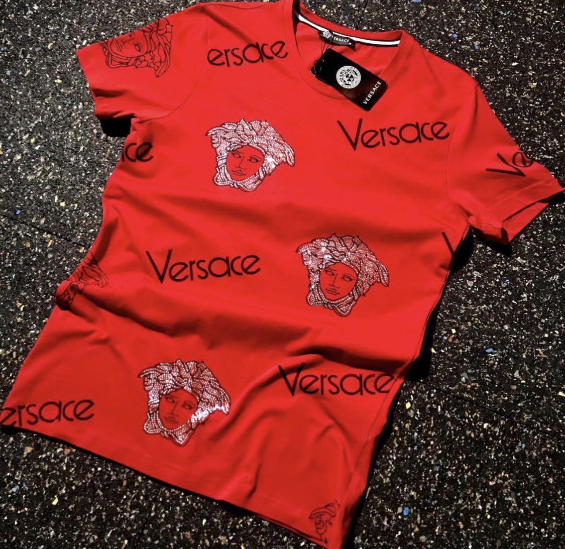 Футболка мужская Versace D7533 красная