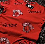 Футболка мужская Versace D7533 красная, фото 2