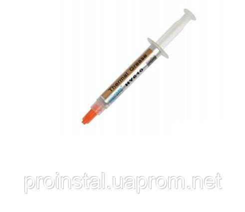 Паста термопроводная HY-610 2g, шприц, Gold