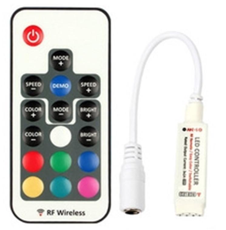 Радио Контроллер для светодиодной ленты RF RGB, Smart B433-3-RGB -W-11, RF пульт 17 кнопок