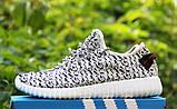 Кроссовки мужские Adidas Yeezy 20141 черно-белые, фото 2