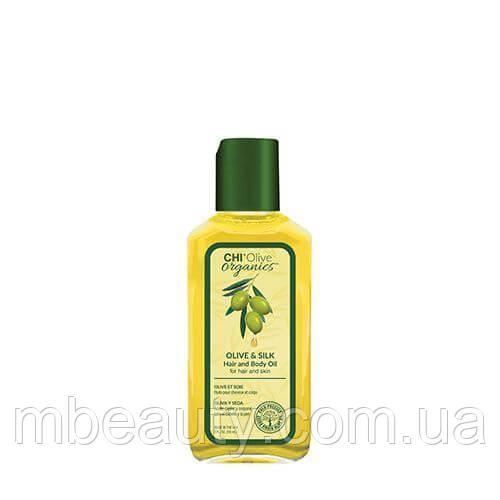 Chi Olive Organics Silk, Шелковое масло для волос и тела, 59мл