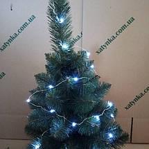 Новогодняя светодиодная гирлянда НА БАТАРЕЙКАХ РОСА 20LED 2м белый, фото 3