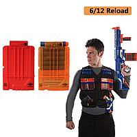 Полупрозрачный магазин  для оружия NERF 6 стрел - Transparent arsenal for weapons NERF 6 arrows