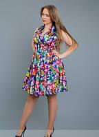 Женское атласное платье Жанетта\ цветное