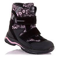 Стильные зимние сапоги на липучках для девочек Tofino 5.4.311 (21-40)