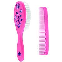 Щëтка и расчëска для волос Nip (37075) Розовая