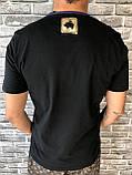 Хайповая Чоловіча Футболка Dolce & Gabbana чорна Люкс Якість 100% Бавовна Молодіжна Дольче Габбана репліка, фото 2