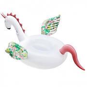 Надувной матрас NZY Единорог Inflatable Candy Horse 200х105 см Белый (125748)