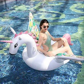 Надувной матрас NZY Единорог Inflatable Candy Horse 200х105 см Белый (125748), фото 2