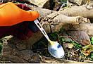 Туристическая титановая ложка TOAKS SLV-13 длина 165 мм. ложка из титана. Титанова посуда., фото 10