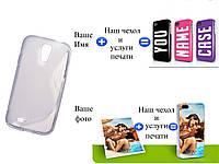 Чехол(бампер) для Samsung i9500 galaxy s4 с рисунком(печать на чехле)