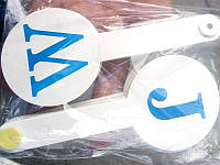 Веер букв Английский алфавит