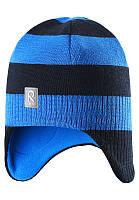 Зимние детские шапки Reima Lumula, синяя полоска, 50 р.
